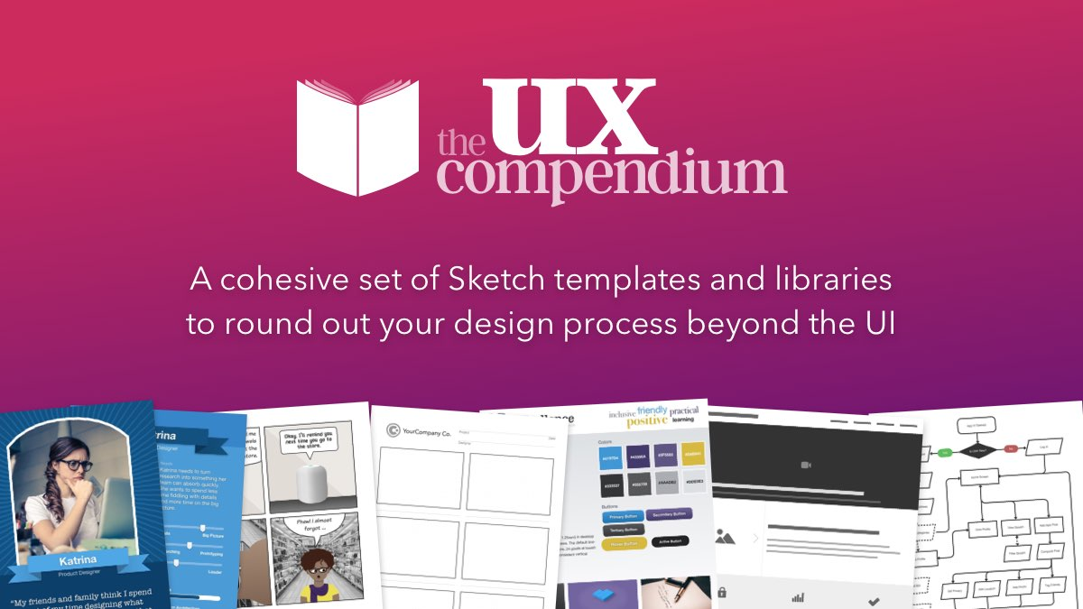 The UX Compendium is a cohesive set of Sketch templates and libraries to round out your design process beyond the UI